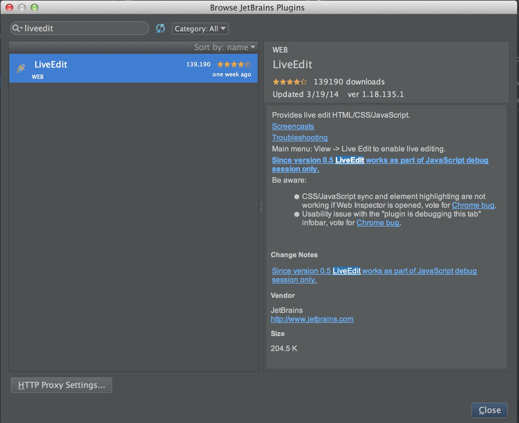 Setup Live Edit in IntelliJ IDEA